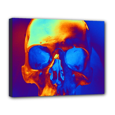 Skull Canvas 14  X 11