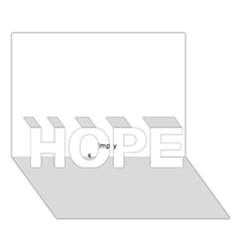 Skull HOPE 3D Greeting Card (7x5)
