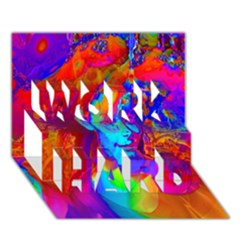 Brainstorm WORK HARD 3D Greeting Card (7x5)