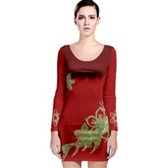 Wildflowers Long Sleeve Bodycon Dresses