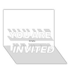 Usa Hearts Flag You Are Invited 3d Greeting Card (7x5)