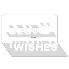 Usa Hearts Flag Best Wish 3d Greeting Card (8x4)