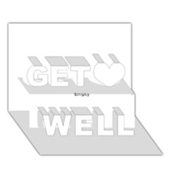 USA Hearts Flag Get Well 3D Greeting Card (7x5)