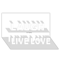 USA Hearts Flag Laugh Live Love 3D Greeting Card (8x4)