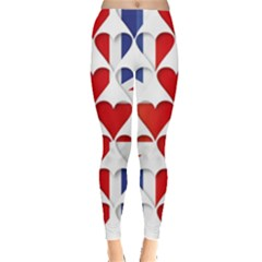 Uk Hearts Flag Women s Leggings
