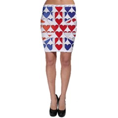 Uk Hearts Flag Bodycon Skirts