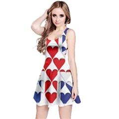 Uk Hearts Flag Reversible Sleeveless Dresses