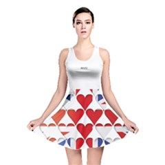 Uk Hearts Flag Reversible Skater Dresses
