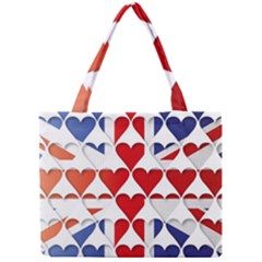 Uk Hearts Flag Tiny Tote Bags