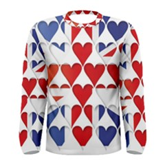 Uk Hearts Flag Men s Long Sleeve T-shirts