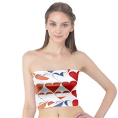 Uk Hearts Flag Women s Tube Tops