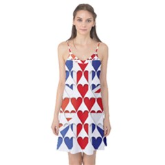 Uk Hearts Flag Camis Nightgown