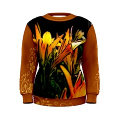 Orange Lilles Women s Sweatshirts