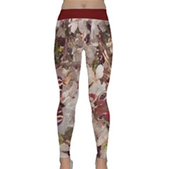 blossom butterfly watercolour Yoga Leggings