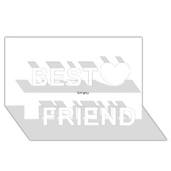 Black And White Wavy Mosaic Best Friends 3d Greeting Card (8x4)