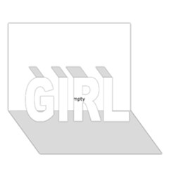 Black and White Wavy Mosaic GIRL 3D Greeting Card (7x5)