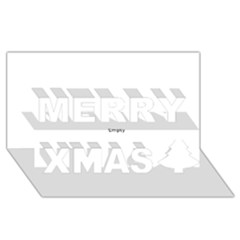 Black and White Wavy Mosaic Merry Xmas 3D Greeting Card (8x4)