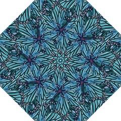 Modern Floral Collage Pattern Golf Umbrellas