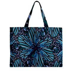 Modern Floral Collage Pattern Tiny Tote Bags