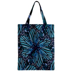 Modern Floral Collage Pattern Zipper Classic Tote Bags