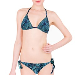 Modern Floral Collage Pattern Bikini Set