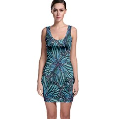 Modern Floral Collage Pattern Bodycon Dresses