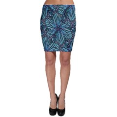Modern Floral Collage Pattern Bodycon Skirts