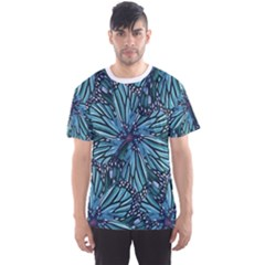 Modern Floral Collage Pattern Men s Sport Mesh Tees