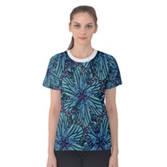 Modern Floral Collage Pattern Women s Cotton Tee