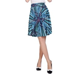 Modern Floral Collage Pattern A Line Skirts