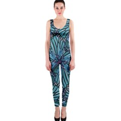 Modern Floral Collage Pattern OnePiece Catsuits