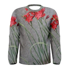 Red Flowers Men s Long Sleeve T-shirts