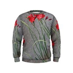 Red Flowers Kid s Sweatshirt
