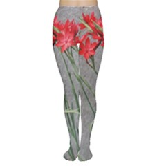 Red Flowers Women s Tights