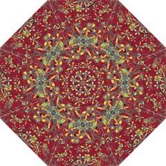 Oriental Floral Print Hook Handle Umbrellas (Large)