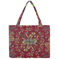 Oriental Floral Print Tiny Tote Bags