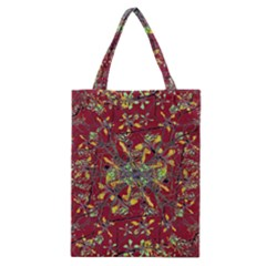 Oriental Floral Print Classic Tote Bags