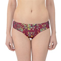 Colorful Oriental Floral Print Hipster Bikini Bottoms