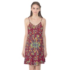 Colorful Oriental Floral Print Camis Nightgown