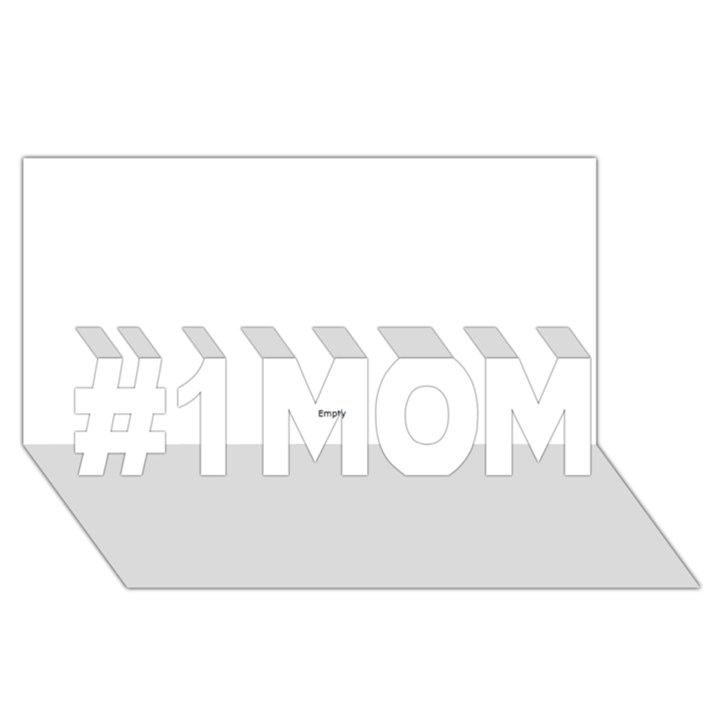 Comic Book NO! #1 MOM 3D Greeting Cards (8x4)