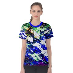 Officially Sexy Floating Hearts Collection Blue Short Sleeve T-shirt