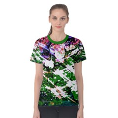 Officially Sexy Floating Hearts Collection Green Short Sleeve T-shirt