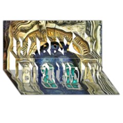 Luebeck Germany Arched Church Doorway Happy Birthday 3d Greeting Card (8x4)