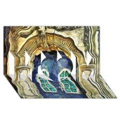 Luebeck Germany Arched Church Doorway MOM 3D Greeting Card (8x4)
