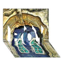 Luebeck Germany Arched Church Doorway BOY 3D Greeting Card (7x5)