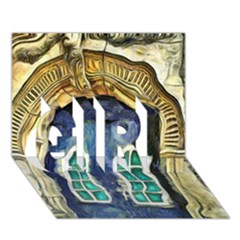 Luebeck Germany Arched Church Doorway GIRL 3D Greeting Card (7x5)