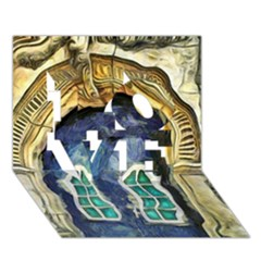 Luebeck Germany Arched Church Doorway Love 3d Greeting Card (7x5)
