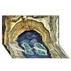 Luebeck Germany Arched Church Doorway Twin Heart Bottom 3d Greeting Card (8x4)