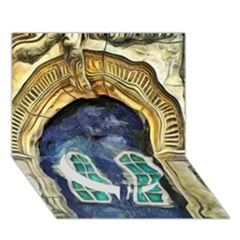 Luebeck Germany Arched Church Doorway Circle Bottom 3D Greeting Card (7x5)