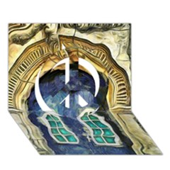 Luebeck Germany Arched Church Doorway Peace Sign 3d Greeting Card (7x5)